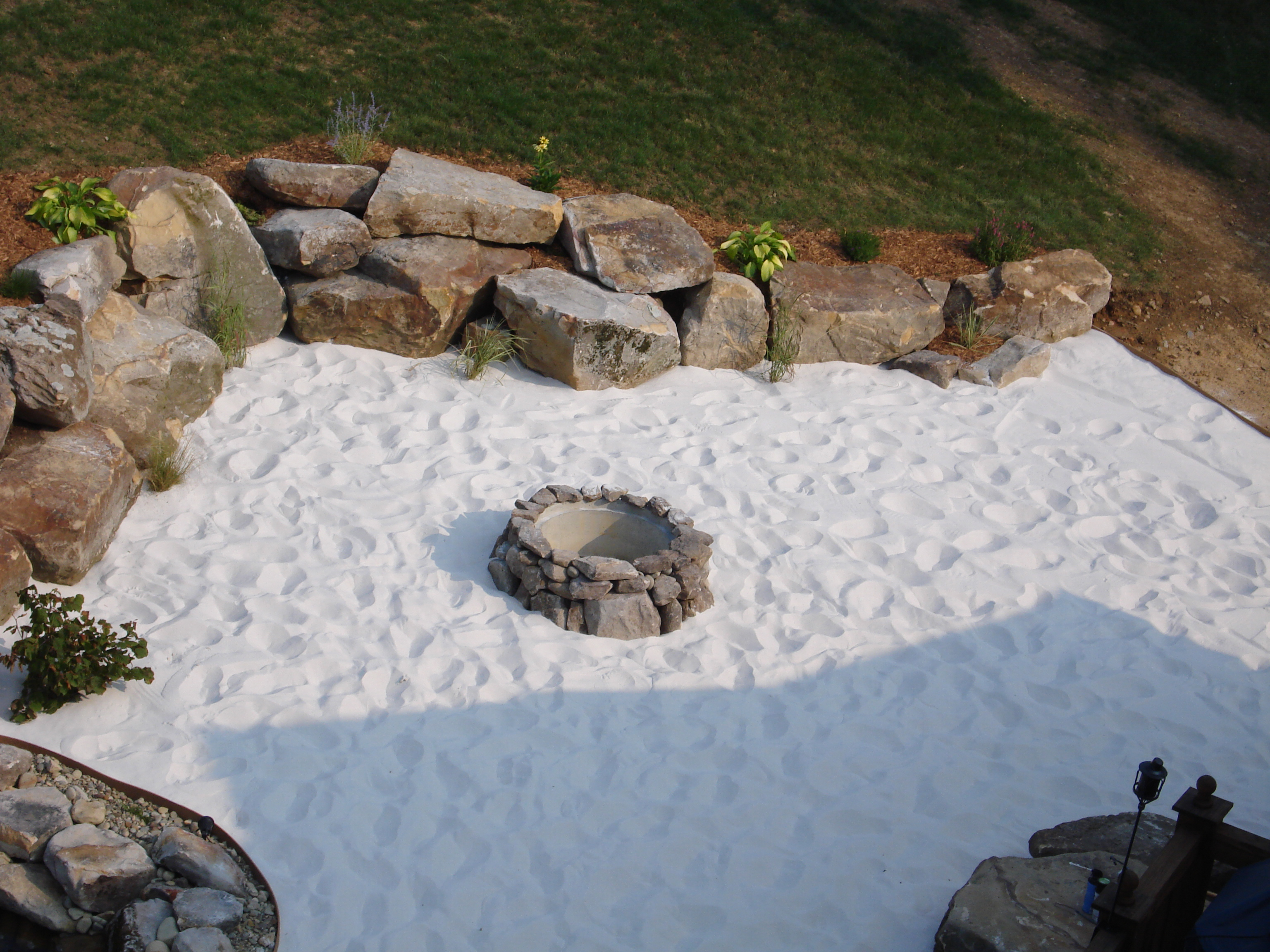 Beach Sand Patio With Fire Pit