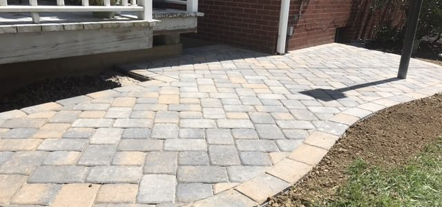 Paver Sidewalk and Patio on Church in Indiana